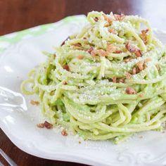 Creamy Avocado Pasta with Bacon Recipe | Yummly