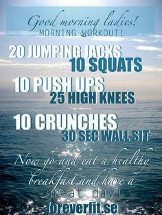 Morning exercises -  Check this out ...