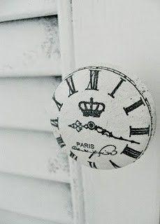 door knob clock ♥♥♥