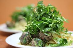 Linguini with Steamed Meatballs..