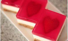 Nepečené smotanovo-tvarohové kocky s jahodami - Báječné recepty