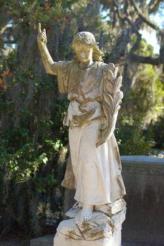 Cemetery Angels, Cemetery Art, Cemetery Statues, Angel Statues, Savannah Smiles, Savannah Chat, Bonaventure Cemetery, 17th Century Art, Old Cemeteries