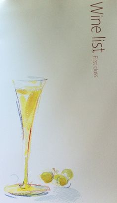 Cathay Pacific Wine Menu First Class