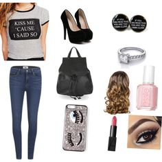 A fashion look from March 2015 featuring Wet Seal t-shirts, Paige Denim jeans and Topshop backpacks. Browse and shop related looks.