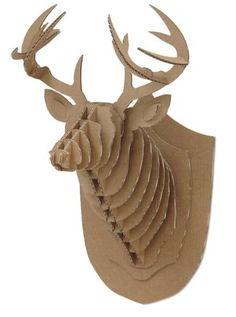 Trophée tête de Cerf en carton