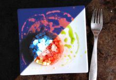 This Luminous Watermelon Salad is a Blacklight-Reactive Summer Dish - Foodista.com