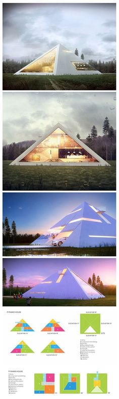 We've seen our fair share of unique modern home designs like the box-shaped metallic house or the abstract fortress made of concrete, but Mexican architect Juan Carlos Ramos has taken on a form less-visited for his aptly titled project Pyramid...