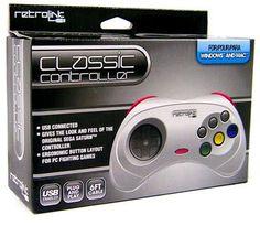Retrolink USB SEGA Saturn Classic Controller [White]