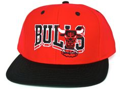 23a38510c23 CHICAGO BULLS Script Wave Retro Old School Snapback Hat - NBA (Hardwood  Classics) Cap