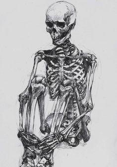 das Skelett= skeleton (literal, figurative)/ skeleton in one's cupboard= ein… Skeleton Drawings, Skeleton Art, Skeleton Figure, Anatomy Drawing, Anatomy Art, Life Drawing, Figure Drawing, Drawing Drawing, Drawing Ideas
