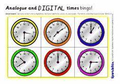 KS2 analogue and digital times bingo (SB6831) - SparkleBox