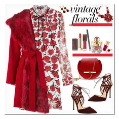 """""""Smell the Vintage Roses"""" by ellie366 ❤ liked on Polyvore featuring Kevyn Aucoin, Markus Lupfer, Angela Valentine Handbags, Gianvito Rossi, Yves Saint Laurent, Shanghai Tang, P.A.R.O.S.H., vintage, DateNight and MiniBag"""