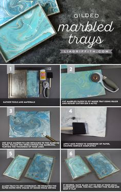 Our DIY vanity tray tutorial combines the gorgeous look of marbled paper with the irresistible potential to organize your perfumes, jewelry, makeup or ...