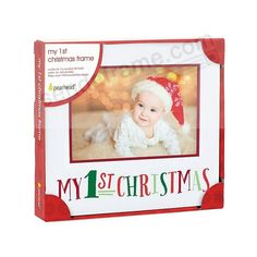 My First Christmas Frame First Christmas Photos, Babys 1st Christmas, Christmas Frames, Christmas Time Is Here, Baby Store, Nursery Decor, Picture Frames, Christmas Decorations, Holiday