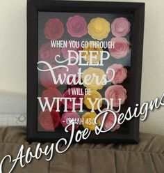 Paper Flowers Flowers Shadow Box Frame with by AbbyJoeDesigns