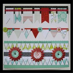 Border designs from Sher, using the Creative Memories Enchanted palette.    http://www.creativememories.com