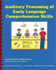 Let's Talk Speech and Language: Auditory Processing of Early Language Comprehension Skills {Review}. Targets comprehension, execution of directives, use of context clues, memory, inferencing, time, spatial details, etc.