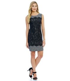 d3ba880a5e9 Tweed and Lace combo dress  everyday dress  wedding guest   office chic  fashion