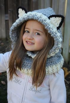 Ready to ship Crochet Hooded Cowl,Wolf Hooded Cowl,Kids Hooded Cowl,Crochet Hooded Cowl,Toddler Hooded Cowl,Hooded Cowl,Toddler Hooded Scarf