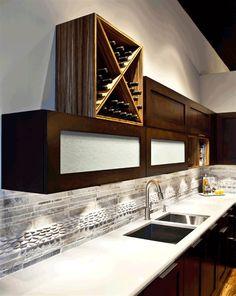Winter Breeze with Stacked Cream Pebbles Kitchen Backsplash, Backsplash Ideas, Stone Tiles, Tile Design, Mosaic Tiles, Barn Wood, Breeze, Shelves, Flooring
