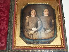 Vintage 1840s Twin Sister Daguerreotype 1 6th Plate Photo | eBay