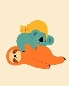 Funny society6 prints're here for you daily. - Being Lazy Art Print by Andy Westface / Get The...
