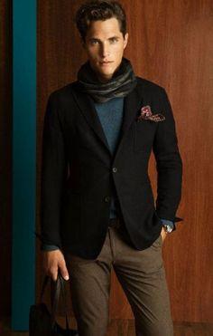 Massimo Dutti Fall/Winter Minus the scarf in the pocket. Mens Fashion, Fashion Outfits, Guy Fashion, Massimo Dutti Hombre, Toms Style, Teal Pants, Dapper Dan, Elegant Man, Mens Attire