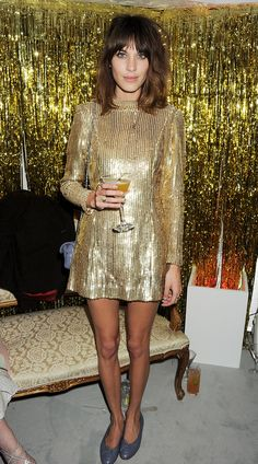 For the Elle Style Awards in February 2012, Alexa went all out in a bold, golden minidress.