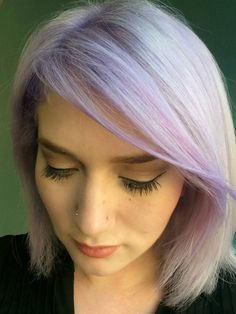 Blonde with lavender