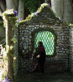 Wizard's Retreat  Miniature Medieval Open Roombox by MelissaChaple, $158.00