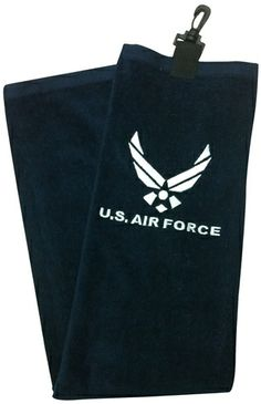 9d4ff67db5 US Air Force Military Tri Fold Golf Bag Towel by Ray Cook Golf. Buy it    ReadyGolf.com