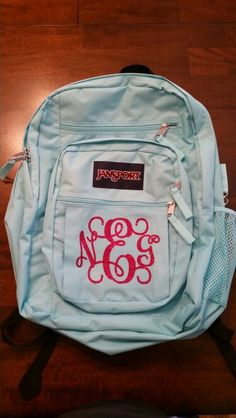 Backpack And Lunch Bag Monogrammed With Heat Transfer