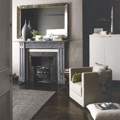 Moody grey living room | ideas for decorating with blues | blue | PHOTO GALLERY | Housetohome
