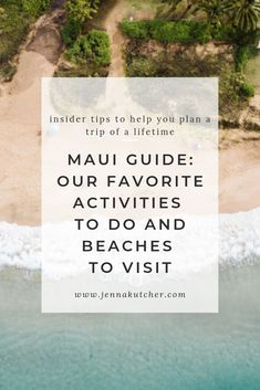 If you're looking for a little getaway to Maui, this post will help you get started! We've rounded up our favorite activities to do and beaches to visit on the island that'll keep you entertained, relaxed, or in awe… or all three! Hawaii Honeymoon, Hawaii Vacation, Beach Vacations, Vacation Ideas, Hawaii Travel Guide, Travel Tips, Best Restaurants London, Holiday Destinations, Travel Destinations