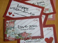 Valentines printable for altoid box