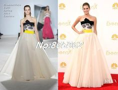 Find More Evening Dresses Information about 2014 66th Emmy Awards Red Carpet Dress Evening Dresses Strapless Sleeveless A Line Floor Length Elegant Party Dresses Gown R88,High Quality Evening Dresses from Suzhou Romantic Wedding Dress Co. Ltd on Aliexpress.com
