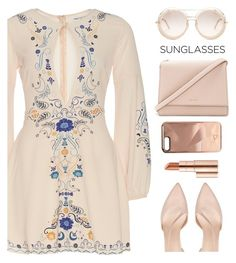 """Retro Sunglasses"" by rasa-j ❤ liked on Polyvore featuring Kate Spade, Rebecca Minkoff, Gucci, Estée Lauder, Chloé, womensFashion and RetroSunglasses"