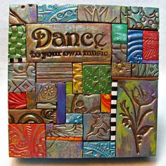 Dance Polymer Clay Tile Mosiac 13085 by ashpaints on Etsy, $16.00