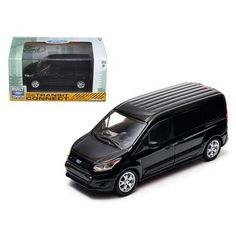 2014 Ford Transit Connect (V408) Black 1/43 Diecast Car Model by Greenlight