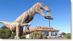 Arizona Roadtrip Attractions: Dinosaur statue at McDonald's in Tucson, AZ