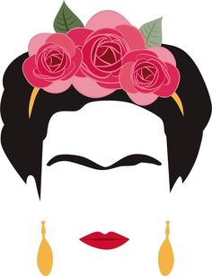 Freida Kahlo, Kahlo Paintings, Frida Art, Makeup Artist Logo, Canvas Designs, Diy Arts And Crafts, Simple Art, Hair Art, String Art