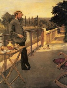 An elegant man at the terrace, by Henri Gervex