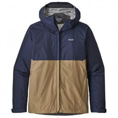 Patagonia Men's Torrentshell Rain Jacket Classic Navy/Mojave Khaki S Mens Rain Jacket, Nike Jacket, Nylons, The North Face, Alpha Industries, Polo Ralph Lauren, Cool Jackets, Patagonia Jacket, Outdoor Outfit