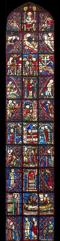 St Mary of Egypt, Bourges Cathedral, France - Bay 20 Key