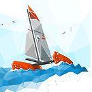 Low poly sailing boat Boat Illustration, Sailing Boat, Catamaran, Low Poly, Illustrations, Photography, Design, Photograph, Sailboats