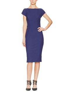 Cap Sleeve Sheath Dress from Dress Shop: Work Dresses on Gilt