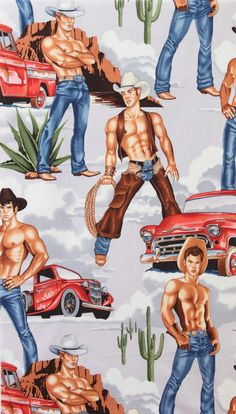 """Wranglers"" fabric by Alexander Henry"