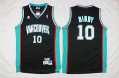 NBA Memphis Grizzlies 10 Mike Bibby Hardwood Classics Retro Swingman Black Jersey