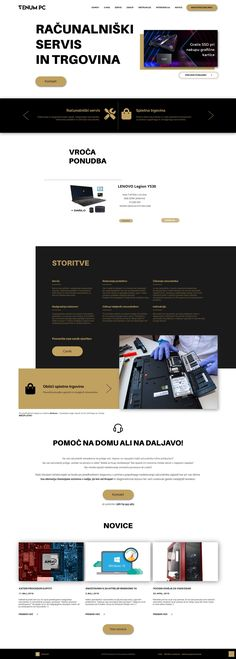 A homepage design for a computer service.  Need a new website, get in touch or send a DM. I will be happy to help.  #webdesign #uidesign #homepage #uxdesign #uiinspiration