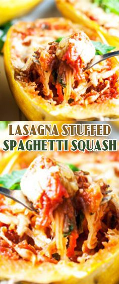 Lasagna Stuffed Spaghetti Squash Recipe